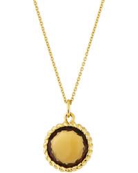 Roberto Coin Ipanema 18k Small Round Citrine Pendant Necklace