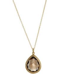 Ippolita Rock Candy Smoky Quartz Diamond Teardrop Pendant Necklace