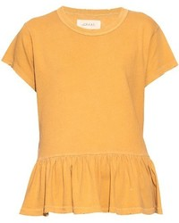 Destroy ruffled cotton jersey t shirt medium 670438