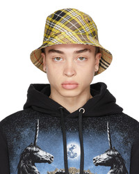Burberry Yellow Check Bucket Hat