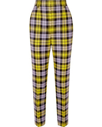 Versace Checked Woven Straight Leg Pants