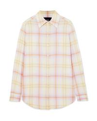Marc Jacobs Checked Crepe De Chine Shirt