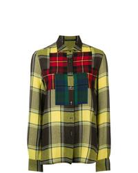 Ermanno Scervino Colourblock Plaid Shirt