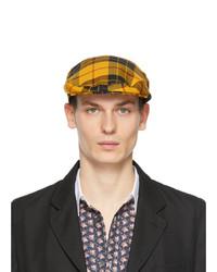 Comme Des Garcons SHIRT Yellow Lochcarron Edition Wool Tartan Flat Cap