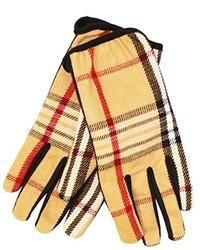 Yellow Plaid Gloves