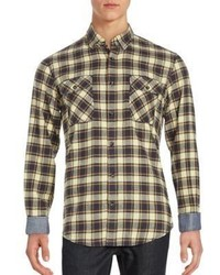 James campbell long sleeve cotton plaid shirt medium 897067