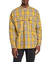 Fear Of God Plaid Band Collar Twill Popover Shirt