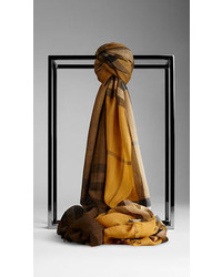 Burberry Check Ombre Wool Silk Scarf