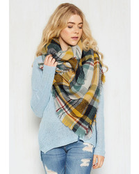 Fame Accessories Willamette For The Weekend Scarf In Saffron
