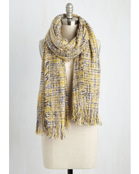Look By M Cozy Does It Scarf In Yellow