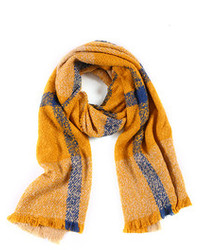 Vintage Plaid Scarf Yellow