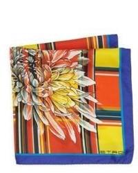 Etro Plaid Silk Pocket Square
