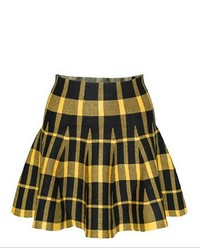 Chicnova preppy style plaid grain pleated skirt medium 129801