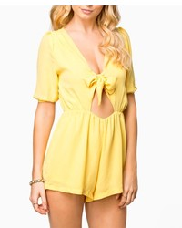 ChicNova Chest Bow Tie Jumpsuits Rompers
