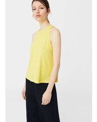 Mango Pleated Top