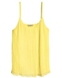 H&M Pleated Chiffon Camisole Top