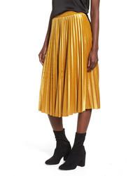 Pleated velvet skirt medium 6834191