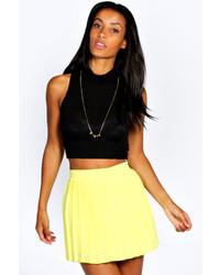 Boohoo Julie Pleated Woven Mini Skirt