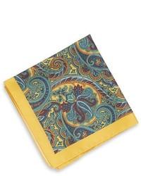 Hugo Boss Pocket Square Silk Print By Boss