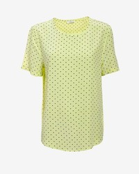 Riley polka dot silk tee medium 174210