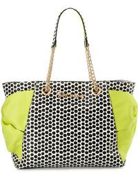 Betsey Johnson Hotty Pocket Polka Dot Tote Bag Citron