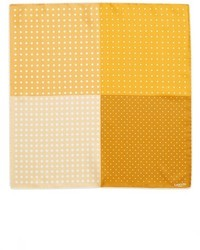 Yellow Polka Dot Pocket Square