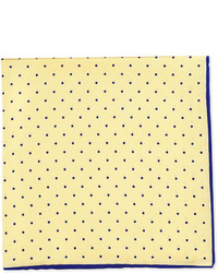 Dot print pocket square yellownavy medium 321748