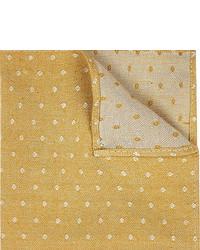 Gold polka dot pocket square medium 321743