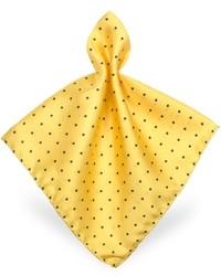 Polkadot twill silk pocket square medium 18162