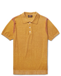 Tod's Painted Knitted Cotton Polo Shirt