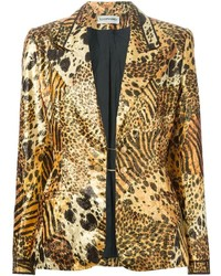 Leonard vintage animal print jacket medium 160576