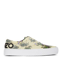Kenzo Off White Printed Sea Lily K Skate Sneakers