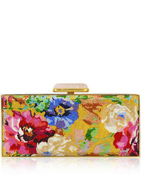 Judith leiber couture watercolor crystal large rectangle clutch bag medium 5023445