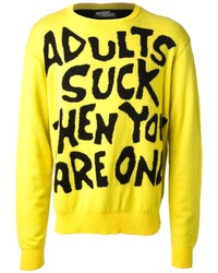 Jeremy Scott Adults Suck Crew Neck Sweater