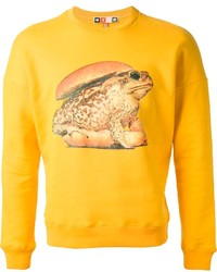 Msgm toilet paper burger bun toad print sweatshirt medium 119855