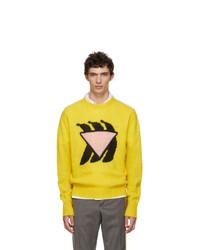 Prada Yellow And Pink Bananas Crewneck