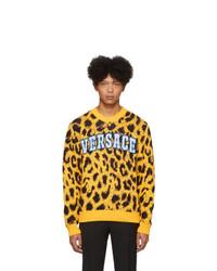 Versace Yellow Jacquard Pop Sweater