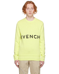 Givenchy Yellow Knit 4g Sweater