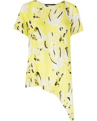 Andrea marques abstract print asymmetric shirt medium 400473