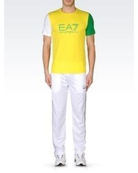 Emporio Armani Colour Block T Shirt In Stretch Cotton