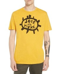 French Connection Joy Of Living Slubbed T Shirt