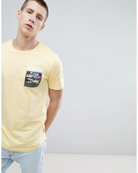 ONLY & SONS Longline T Shirt With Printed Pocket