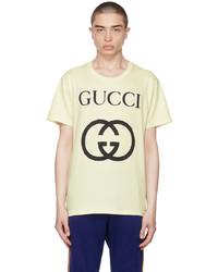 Gucci Off White Oversize Interlocking G T Shirt