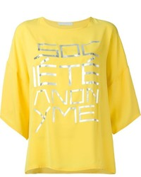 Societe Anonyme Socit Anonyme Oversized Front Print T Shirt