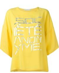 Societe anonyme socit anonyme oversized front print t shirt medium 400435