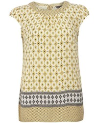 Dorothy Perkins Tall Yellow Tile Print Tee