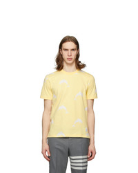 Thom Browne Yellow All Over Dolphin Icocn T Shirt