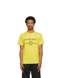 Versace Yellow Medusa Logo T Shirt