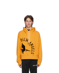Palm Angels Yellow College Eagle Hoodie
