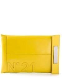 No.21 No21 Logo Envelope Clutch